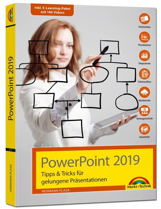 Cover-Bild PowerPoint 2019 Tipps und Tricks für gelungene Präsentationen und Vorträge. Komplett in Farbe