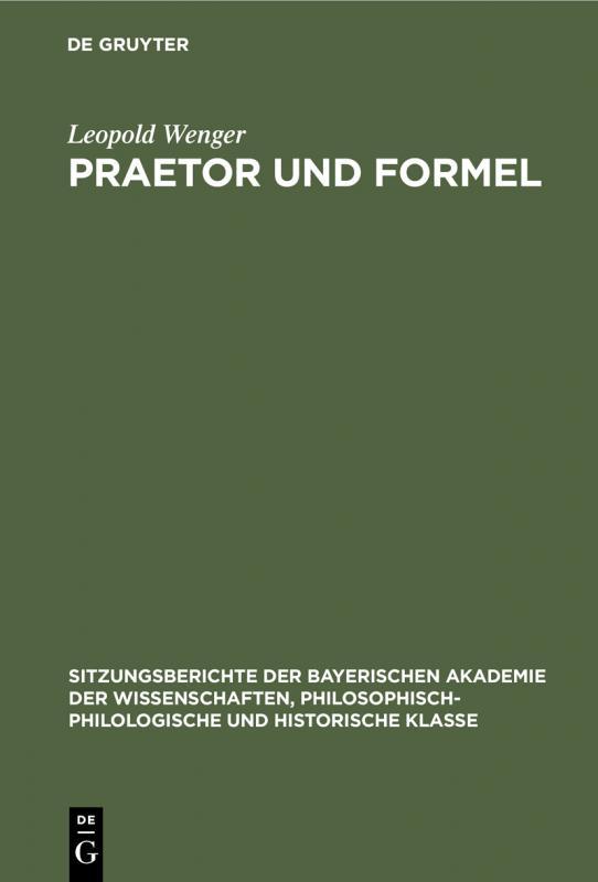 Cover-Bild Praetor und Formel