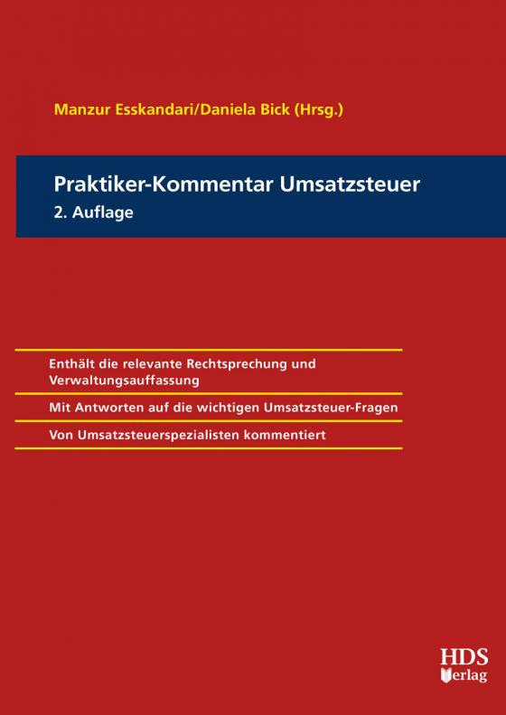Cover-Bild Praktiker-Kommentar Umsatzsteuer