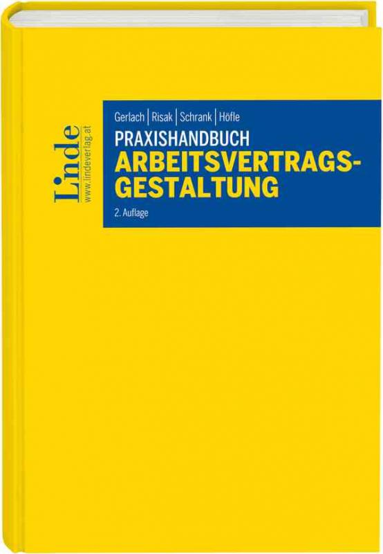 Cover-Bild Praxishandbuch Arbeitsvertragsgestaltung