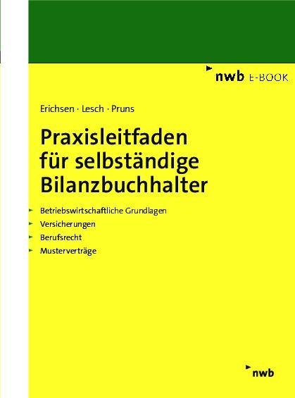 Cover-Bild Praxisleitfaden für selbständige Bilanzbuchhalter
