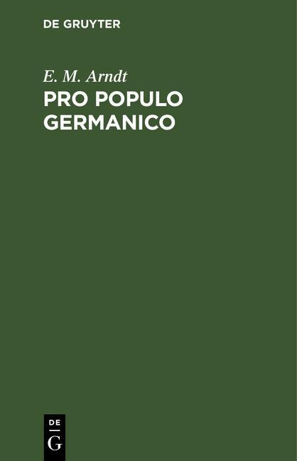 Cover-Bild Pro populo germanico