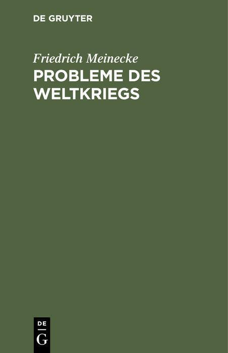Cover-Bild Probleme des Weltkriegs
