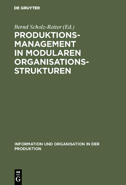 Cover-Bild Produktionsmanagement in modularen Organisationsstrukturen