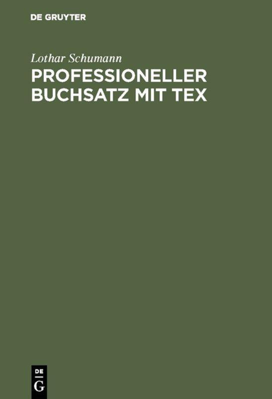 Cover-Bild Professioneller Buchsatz mit TEX