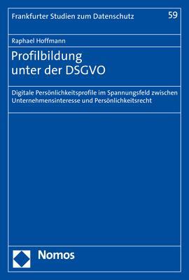 Cover-Bild Profilbildung unter der DSGVO