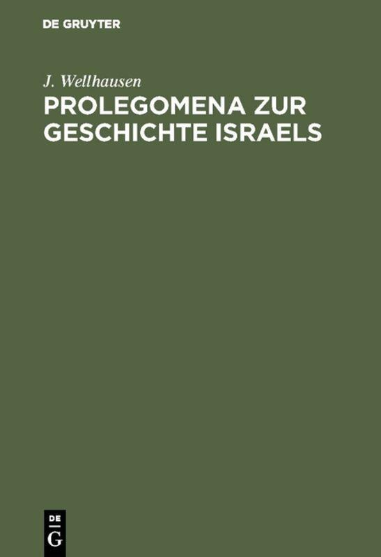 Cover-Bild Prolegomena zur Geschichte Israels