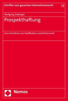 Cover-Bild Prospekthaftung