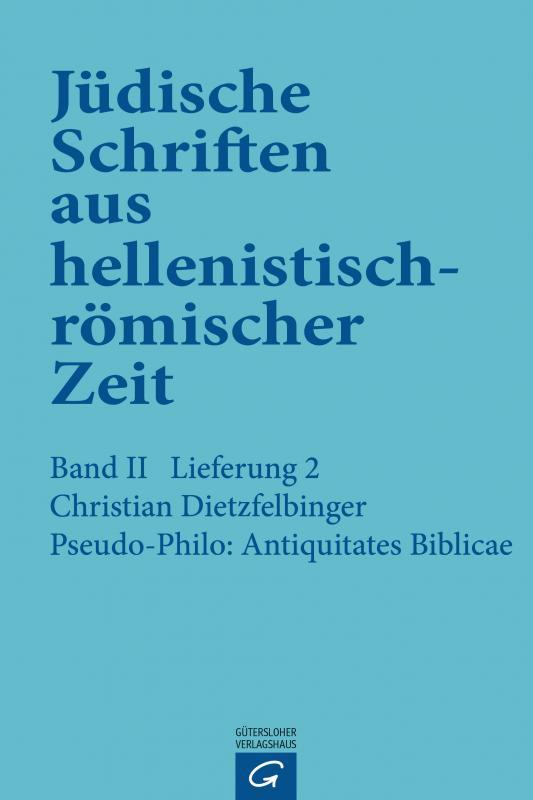 Cover-Bild Pseudo-Philo: Antiquitates Biblicae (Liber Antiquitatum Biblicarum)