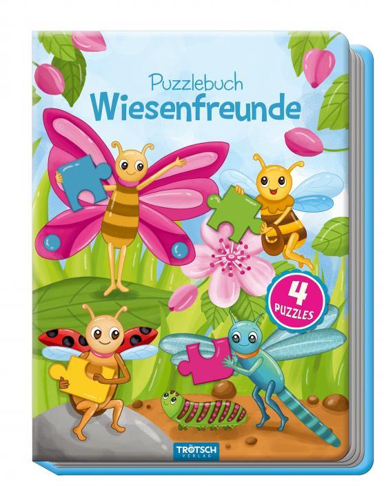 Cover-Bild Puzzlebuch Wiesenfreunde, Kinderbuch, Tiere, Tierbuch