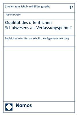 Cover-Bild Qualität des öffentlichen Schulwesens als Verfassungsgebot?