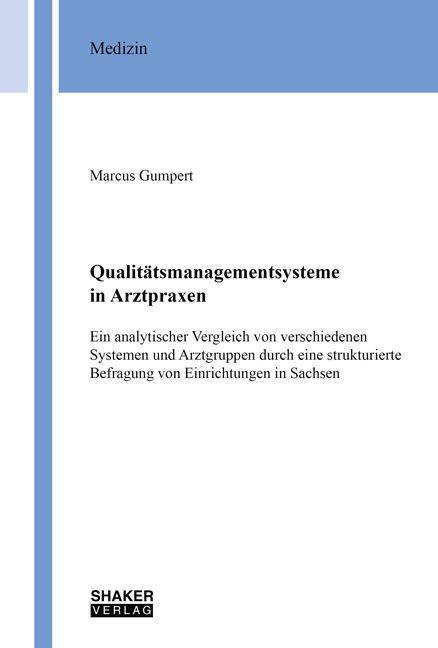 Cover-Bild Qualitätsmanagementsysteme in Arztpraxen