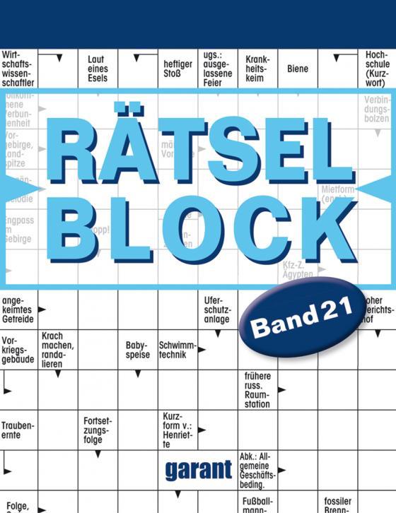 Cover-Bild Rätselblock Band 21