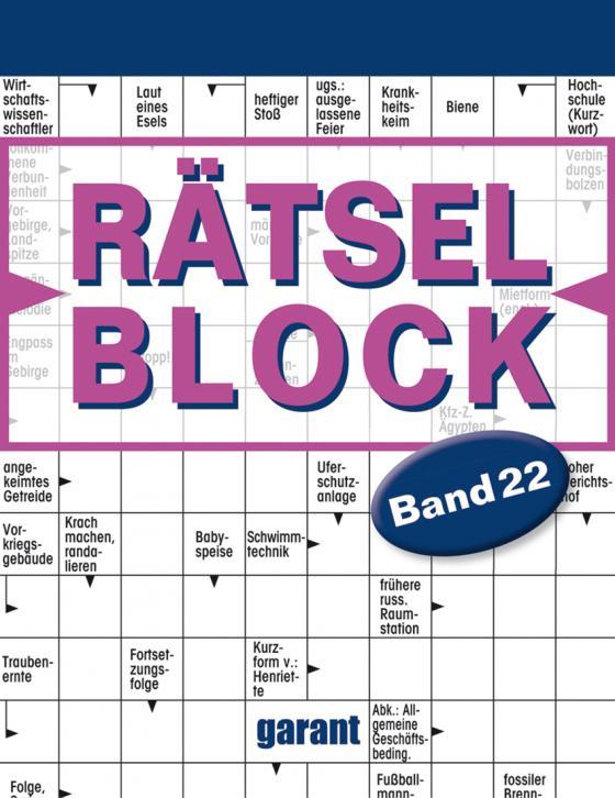 Cover-Bild Rätselblock Band 22