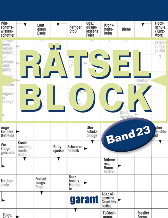 Cover-Bild Rätselblock Band 23