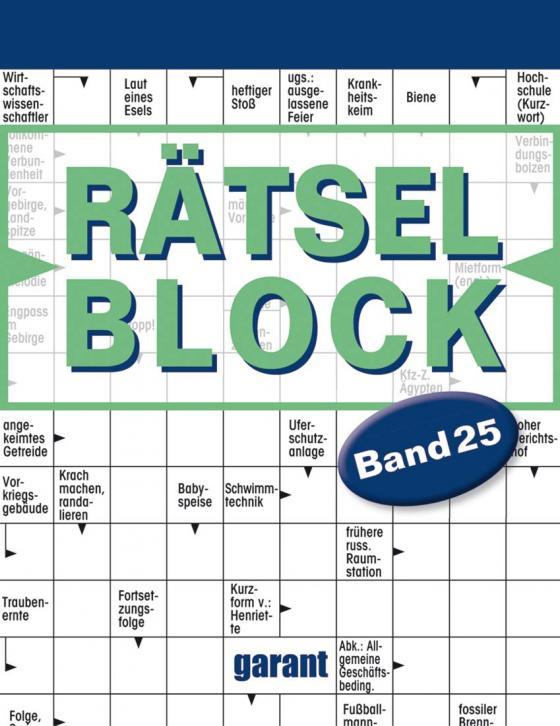 Cover-Bild Rätselblock Band 25