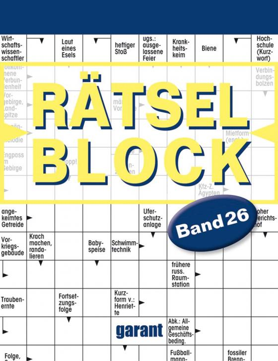 Cover-Bild Rätselblock Band 26