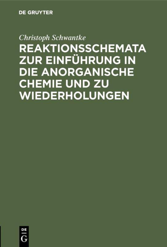 Cover-Bild Reaktionsschemata zur Einführung in die anorganische Chemie und zu Wiederholungen