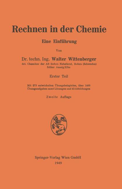 Cover-Bild Rechnen in der Chemie