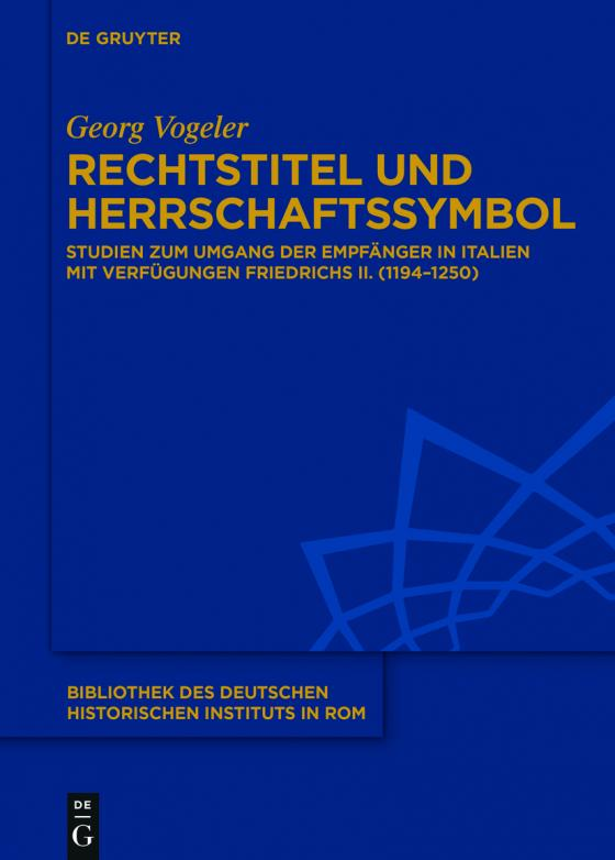 Cover-Bild Rechtstitel und Herrschaftssymbol
