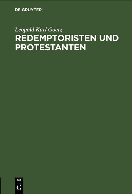 Cover-Bild Redemptoristen und Protestanten
