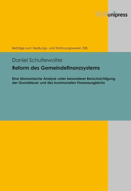 Cover-Bild Reform des Gemeindefinanzsystems