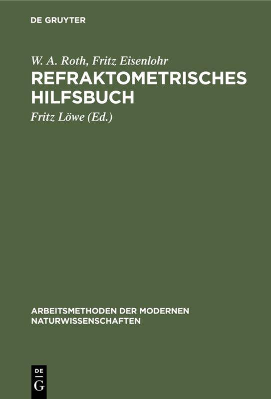 Cover-Bild Refraktometrisches Hilfsbuch