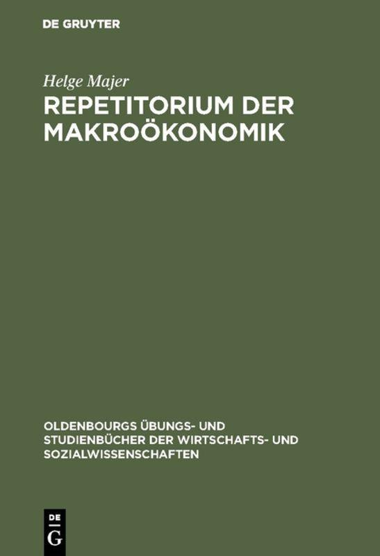Cover-Bild Repetitorium der Makroökonomik