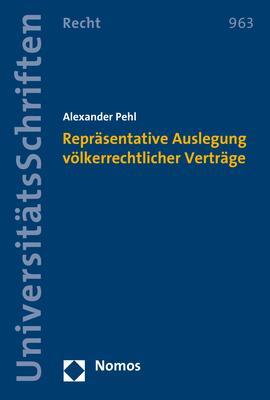 Cover-Bild Repräsentative Auslegung völkerrechtlicher Verträge