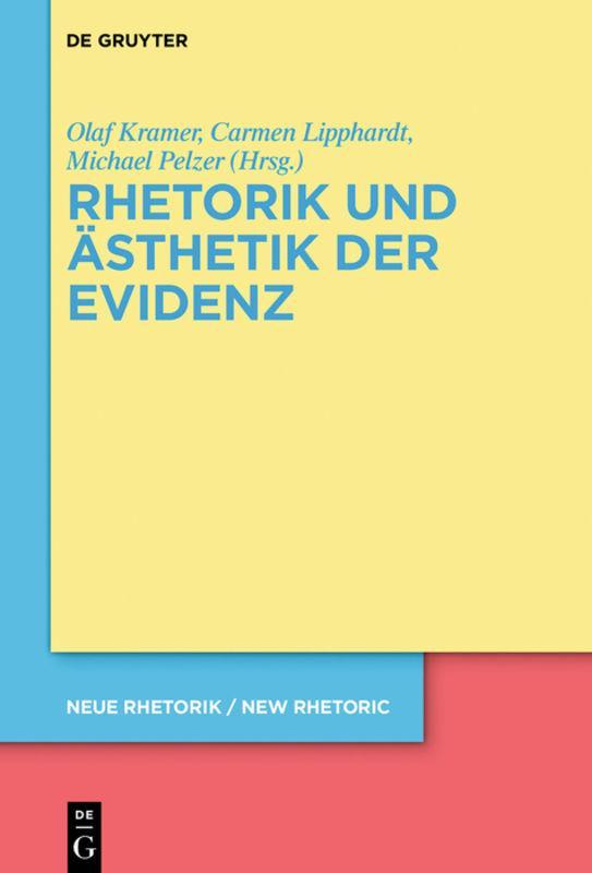 Cover-Bild Rhetorik und Ästhetik der Evidenz