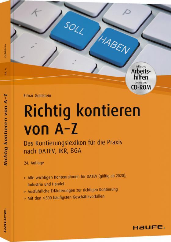 Cover-Bild Richtig kontieren von A-Z - inkl. Arbeitshilfen online und CD-ROM