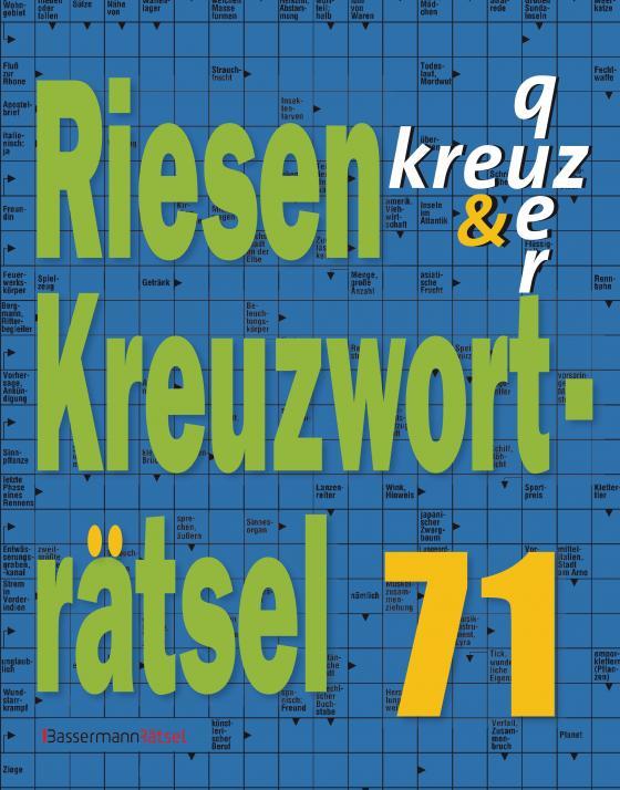 Cover-Bild Riesen-Kreuzworträtsel 71 (5 Exemplare à 2,99 €)