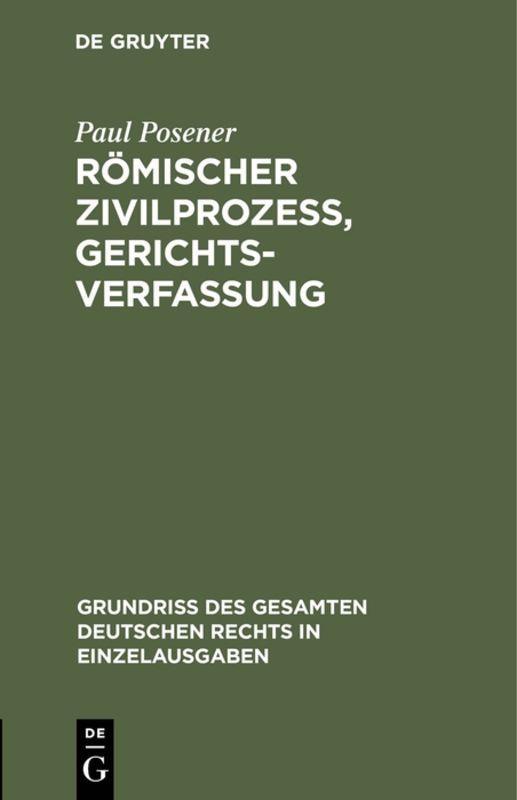 Cover-Bild Römischer Zivilprozeß, Gerichtsverfassung