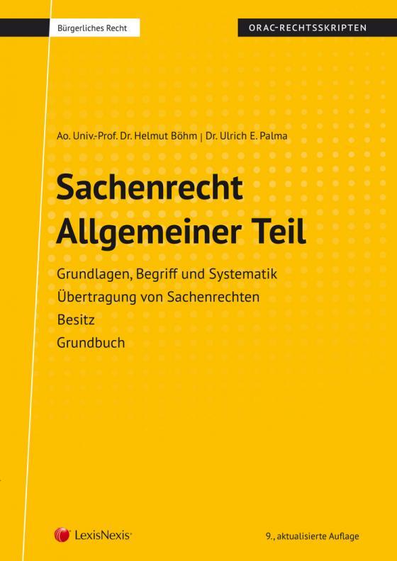 Cover-Bild Sachenrecht Allgemeiner Teil (Skriptum)