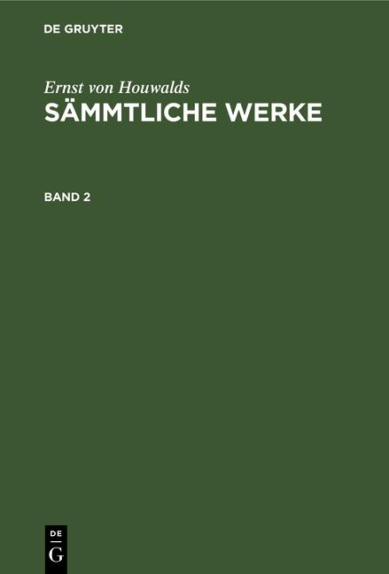 Cover-Bild Sämmtliche Werke / Sämmtliche Werke. Band 2