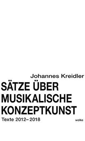 Cover-Bild Sätze über musikalische Konzeptkunst