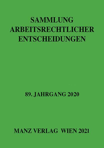 Cover-Bild Sammlung arbeitsrechtlicher Entscheidungen