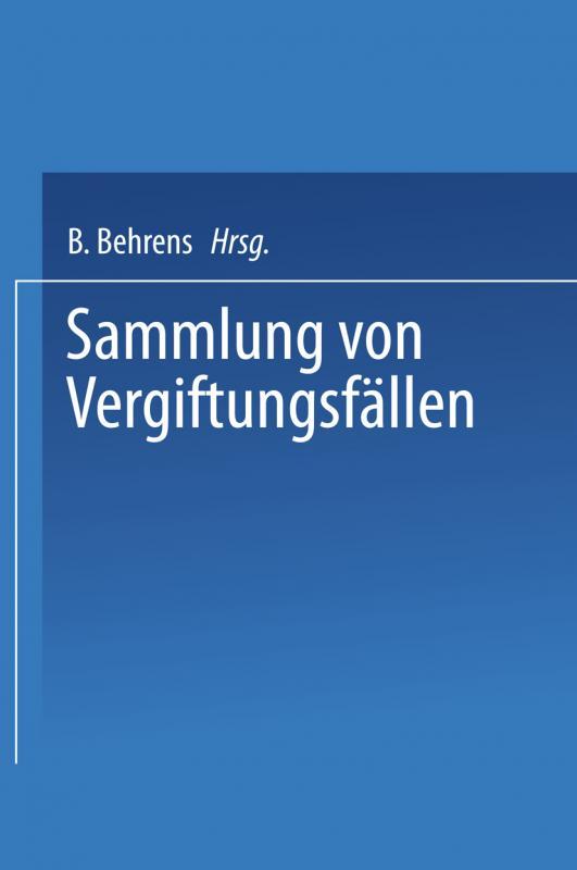 Cover-Bild Sammlung von vergiftungsfällen