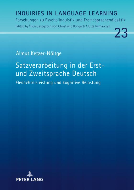 Cover-Bild Satzverarbeitung in der Erst- und Zweitsprache Deutsch