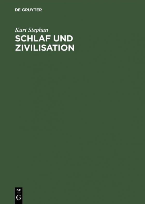 Cover-Bild Schlaf und Zivilisation
