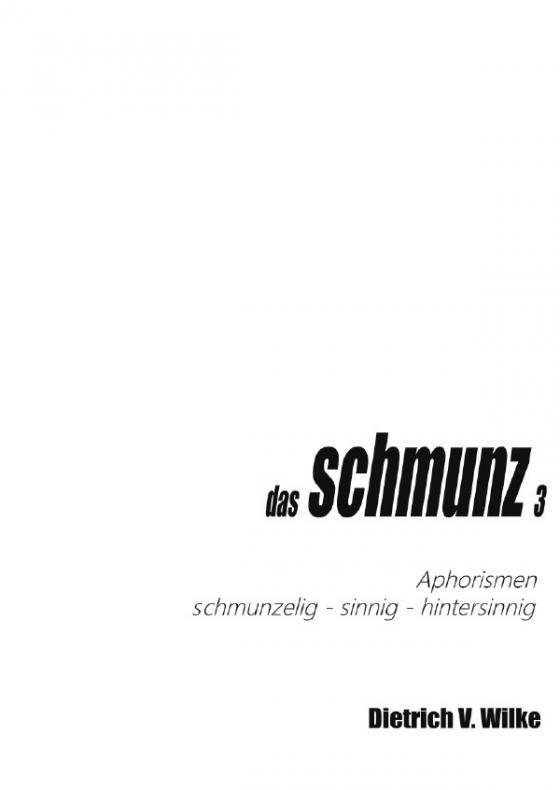 Cover-Bild Schmunz / das Schmunz 3