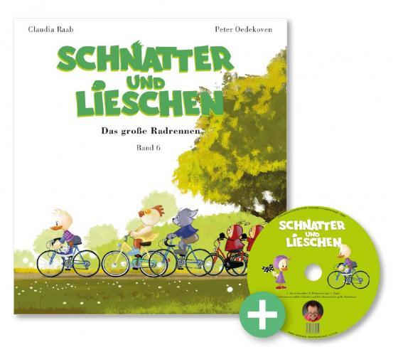 Cover-Bild Schnatter and Lieschen - Das große Radrennen (Inkl. CD)