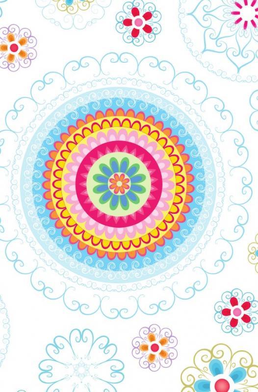 """Cover-Bild Schreibwandel Notizbuch """"blau-buntes Blumen-Mandala"""""""