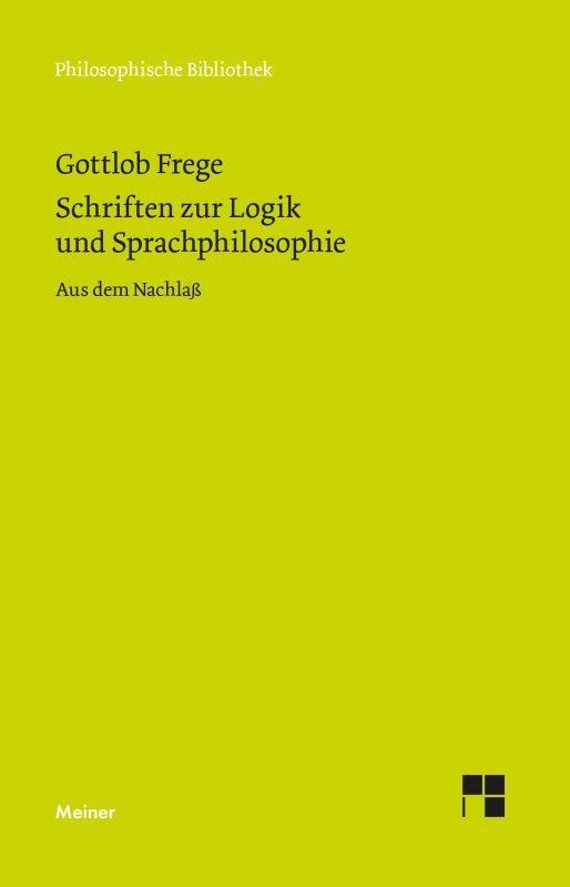 Cover-Bild Schriften zur Logik und Sprachphilosophie