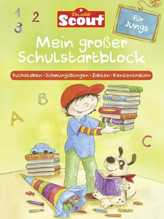 Cover-Bild Scout - Mein großer Schulstartblock für Jungs