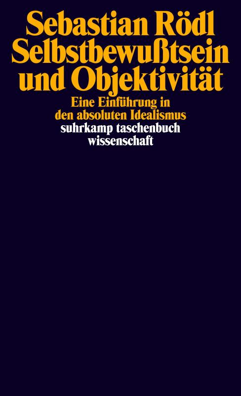 Cover-Bild Selbstbewußtsein und Objektivität