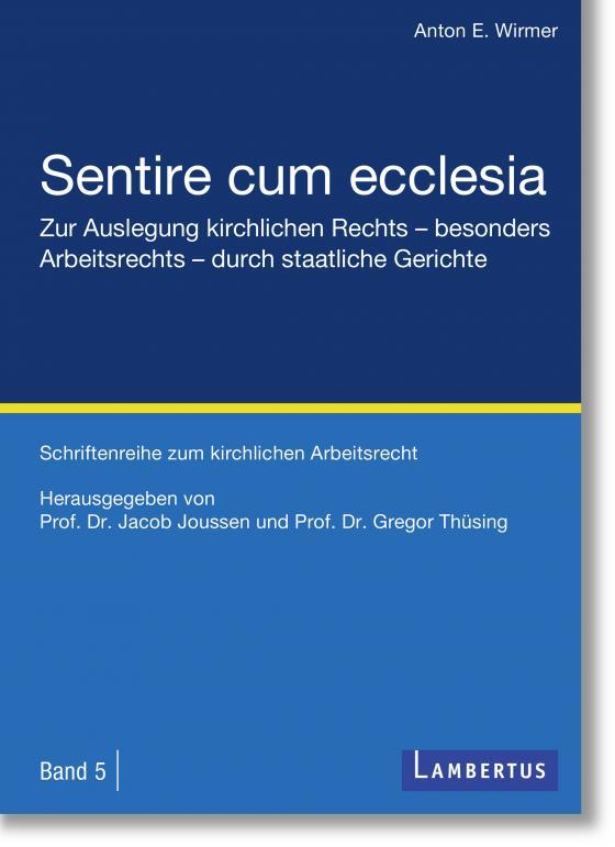 Cover-Bild Sentire cum ecclesia