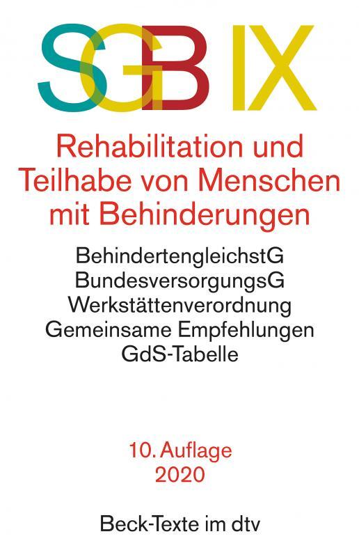 Cover-Bild SGB IX Rehabilitation und Teilhabe behinderter Menschen