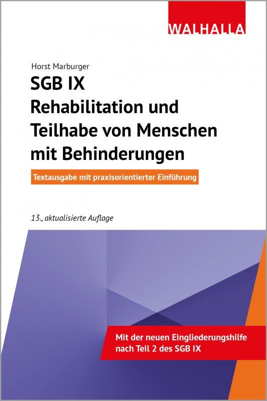 Cover-Bild SGB IX - Rehabilitation und Teilhabe von Menschen mit Behinderungen