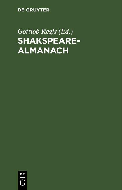Cover-Bild Shakspeare-Almanach